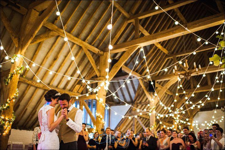 #wedding at Ufton Court, Photo: Chris Legg. Fab to do something completely unique - random loop canopy of festoon #lighting