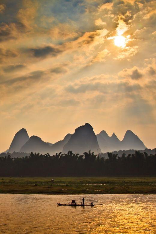 Sunrise in Yangshuo, China