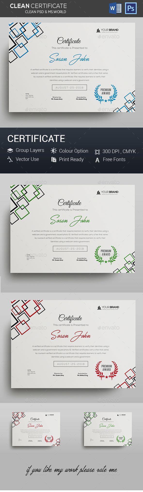 Certificate #certificate design #standard  • Download here → https://graphicriver.net/item/certificate/20281600?ref=pxcr