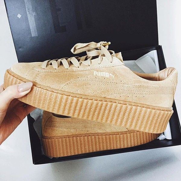 shoes puma rihanna nude sneakers nude shoes suede sneakers puma sneakers tan trainers sneakers