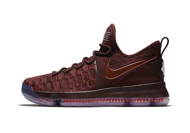 online retailer bb3b6 0dac8 Nike Kevin Durant KD 9 Christmas The Sauce Deep Burgundy Metallic Red  Bronze 852409 696 2018 How To Buy
