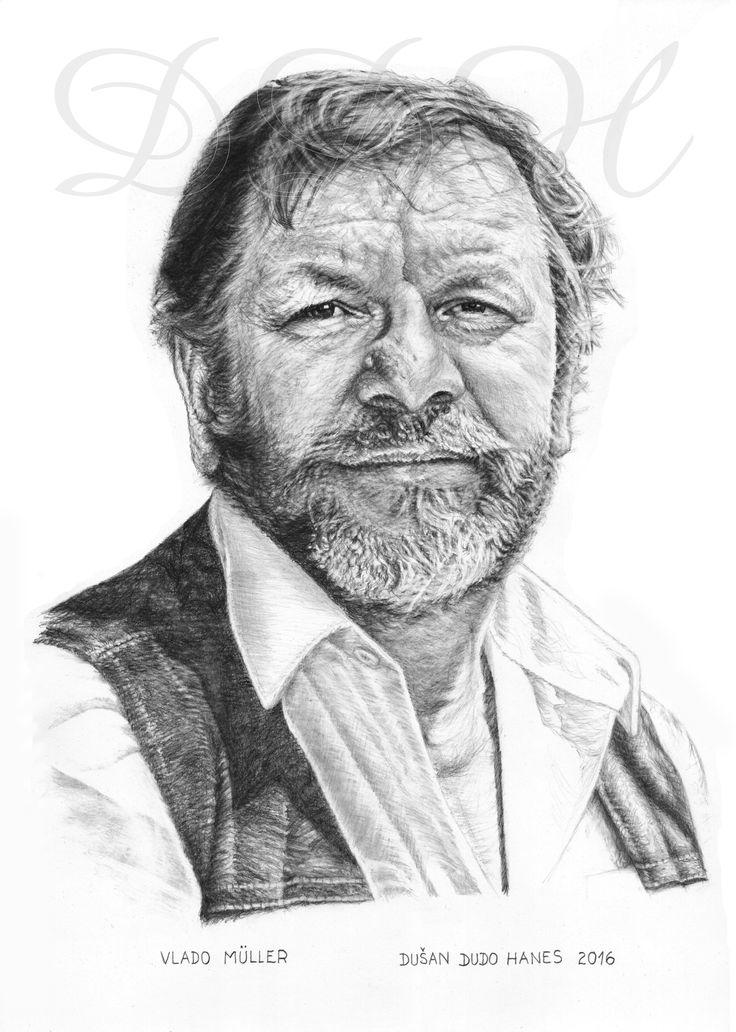 Vlado Müller, portrét Dušan Dudo Hanes