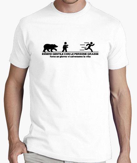T-shirt Essere gentile con le persone grasse