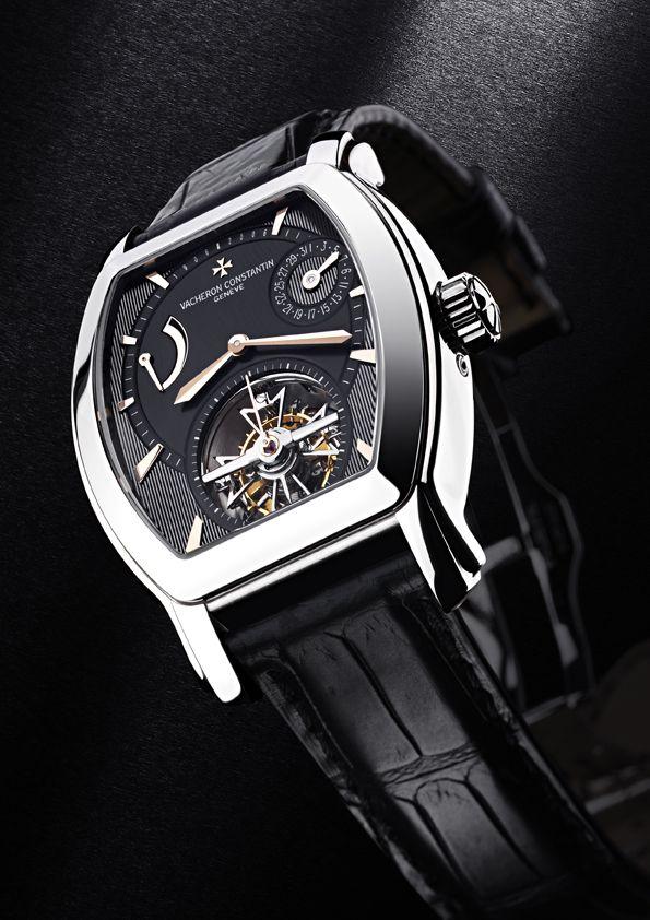 Vacheron Constantin Malte Tourbillon Steel Black Dial Rose Gold Indexes