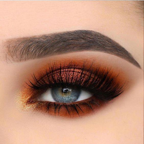 Great orange eye makeup