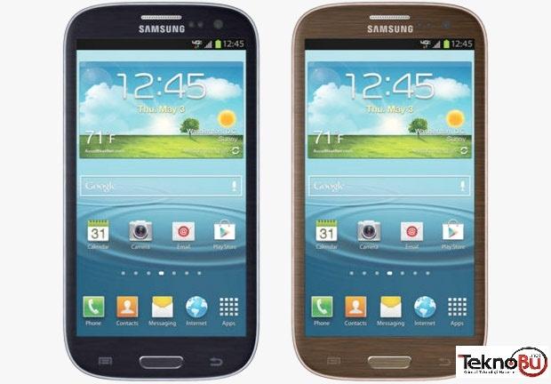 Samsung geçtigimiz bahar aylarında piyasaya sürdüğü Çakıl taşı mavisi Galaxy S III modeli için yeni bir renk ile siyah modeli'nin satışa sunulacagını duyurmuştu. Şuan piyasada ki Siyah renkte cihaz için yeni bir renk daha piyasa'ya sunuldu. http://teknobu.net/samsung-galaxy-s-3-siyah-ve-kahverengi-geliyor