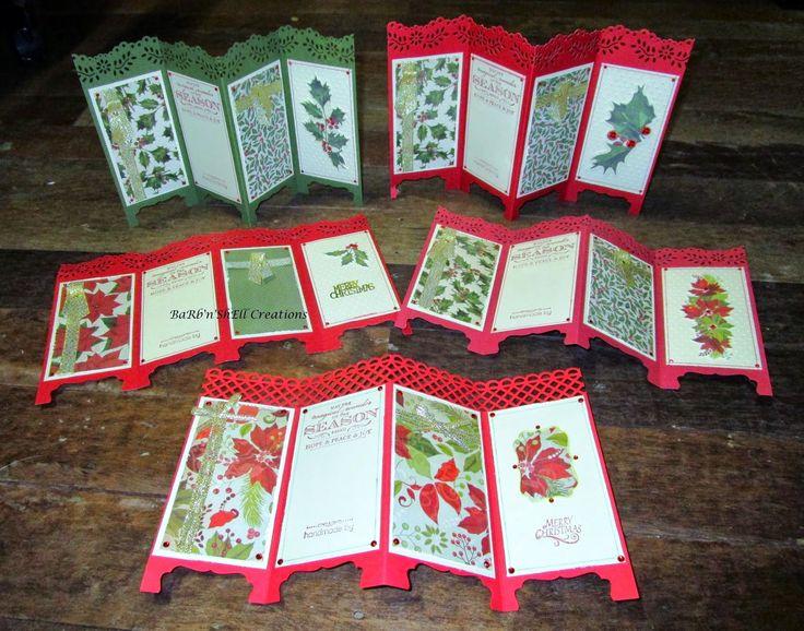 BaRb'n'ShEllcreations - Kaisercraft St Nicholas and Christmas Carol - folding screen card - made by Shell