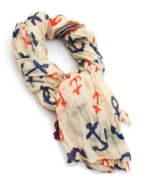 Anchor scarf. Love  the colors!