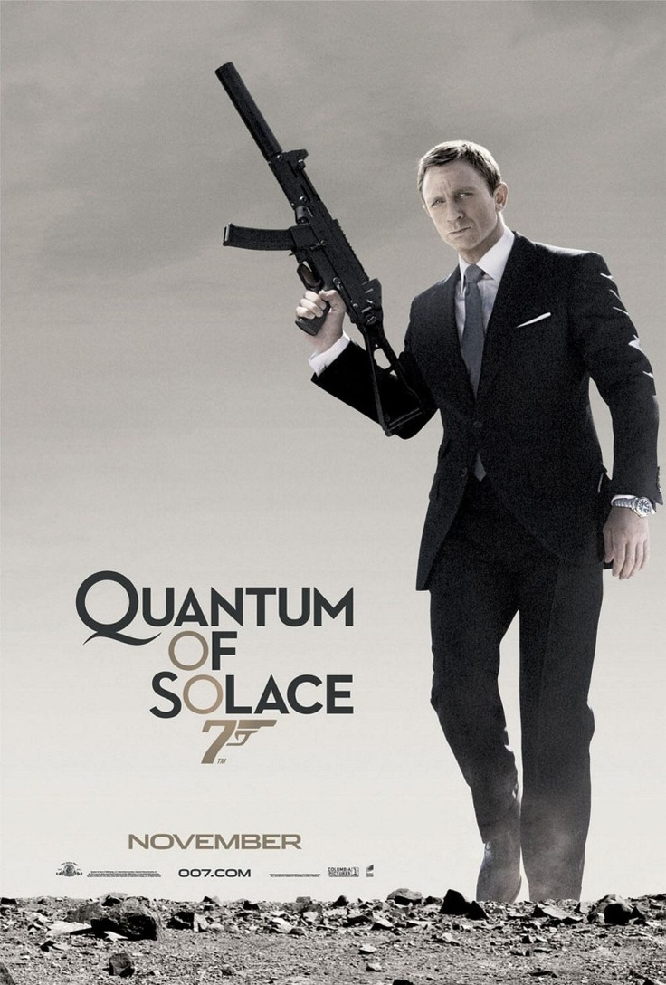 22. James Bond: Quantum Of Solace (2008)    007 played by: Daniel Craig  Bond Girl: Olga Kurlyenko (Camille)  Directed by: Marc Forster  Filming budget: $230,000,000  Time between this and previous release: 2 years