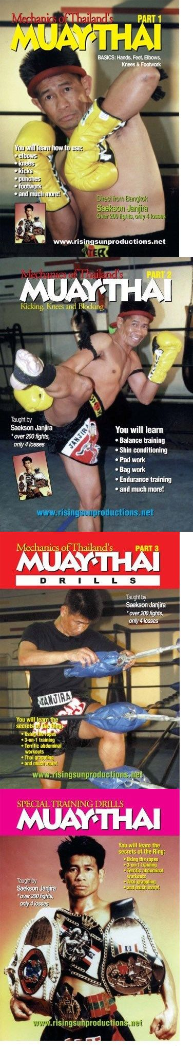DVDs Videos and Books 73991: 4 Dvd Set Muay Thai Kickboxing Fighting Master Saekson Janjira Hands Feet Combos -> BUY IT NOW ONLY: $85 on eBay!