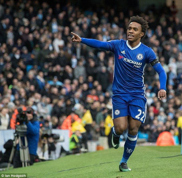 Willian - Chelsea's player of the year last season - has not started any of their last three games