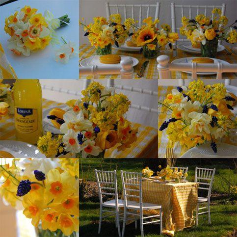 Low cost esküvő a tavasz színeiben   citrom fehér menyasszonyi csokrok eskuvoi dekoracio eskuvoi asztaldiszek eskuvo