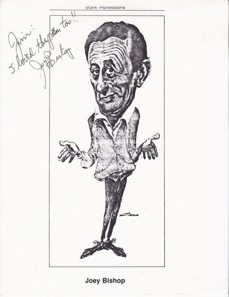 JOEY BISHOP                     hand signed 8x10 glossy caricature photo print ]