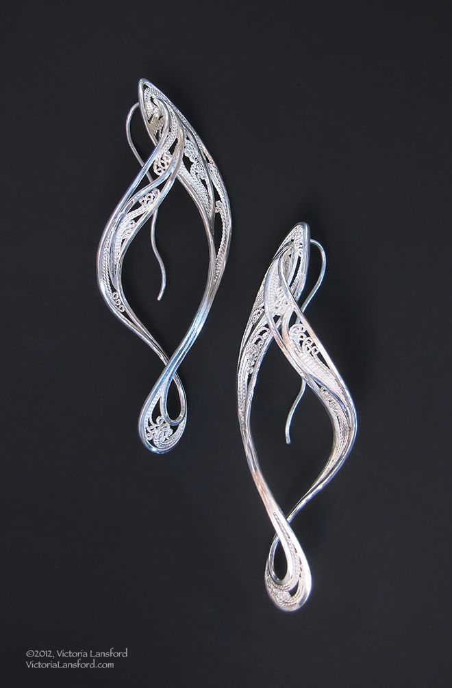 victoria lansford | Nouveau, Russian filigree earrings~Victoria Lansford | Creation