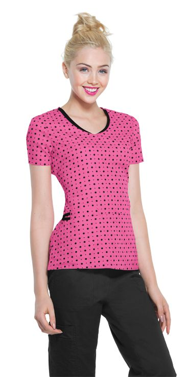 A V-neck top Dot You Forget It. #loveheartsoulscrubs