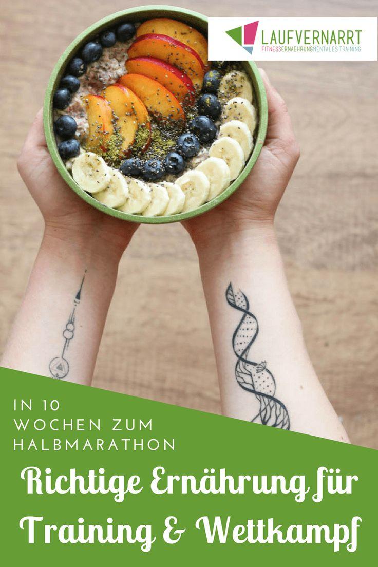 Was ist bei der Mahlzeit vor und nach dem Training zu beachten? Was bringt Nüchterntraining? Und wie sieht die optimale Ernährung in der Wettkampfwoche deines Halbmarathon aus?