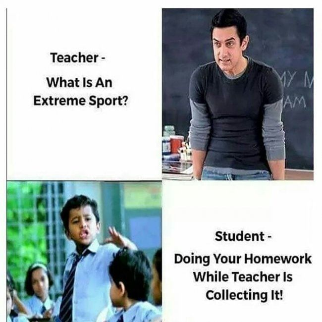 Teacher And Student Funny Memes In Www Fundoes Com To Make Laugh Teacher Memes Funny Student Jokes Funny School Memes