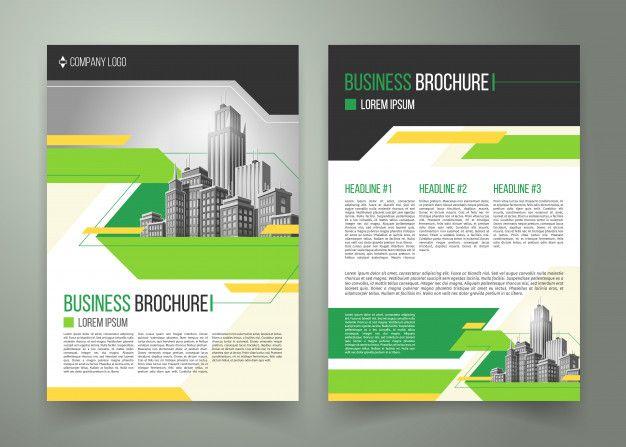 Template Brosur Flyer Bisnis Sederhana Coreldraw Dengan Gambar