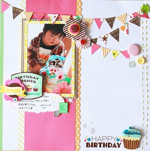 love the pennants: Photo Layouts, Scrapbook Layouts, Pg Layout Ideas, Scrapbook Inspiration, Pennant Banners, Scrapbooking Ideas, Scrapbook Birthday, Scrapbooking Layouts
