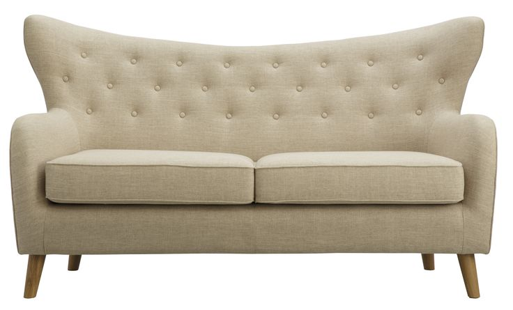 Curl up with a good book in the Bloom 2.5 seat sofa in latte. Features a unique wing back design with Chesterfield-style buttons, deep seats and stylish timber legs. Available in Lavender and Latte colour. Two and a half seater, $1,399; two-seater, $1,199.