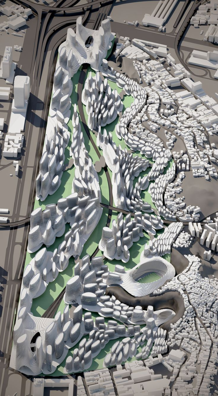 Bad Urban Design - .  Illustrator and autocad.   Beautiful example of bad urban design.