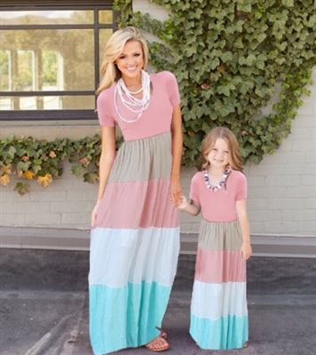 Mommy and me matching maxi dresses