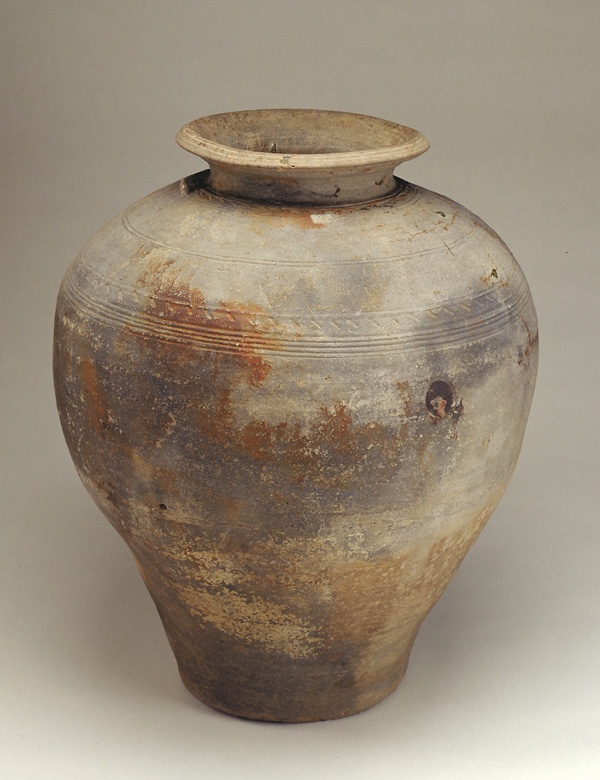 Jar  14th-16th century      Ayutthaya period     Unglazed stoneware  H: 71.1 W: 62.2 D: 62.2 cm   Thailand