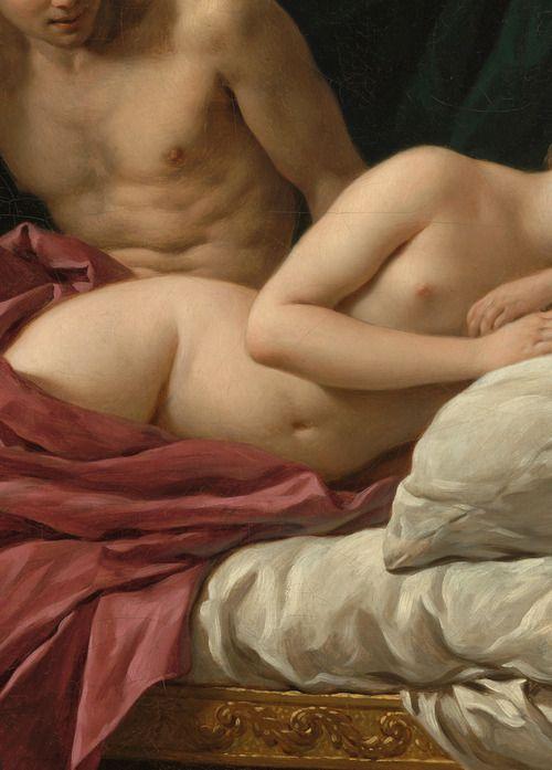 """Louis-Jean-François Lagrenée,Mars Venus: """"Allegory of Peace"""" (detail) 1770."""