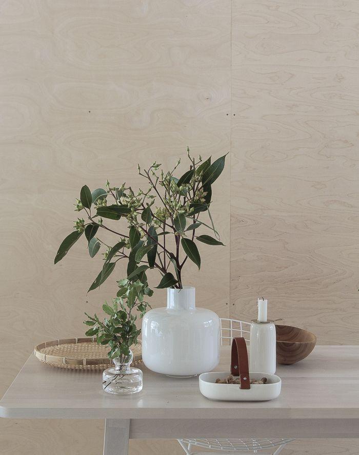 Marimekko's vases and Oiva candleholder. From the blog Minna Jones