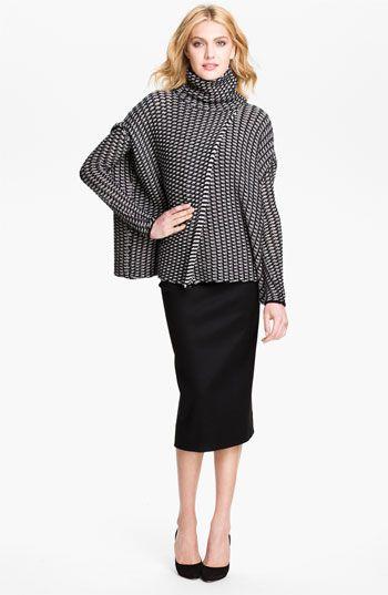 Diane von Furstenberg 'Ahiga' Sweater Cape   Nordstrom $238    pretty...overlap hides waist; long arms