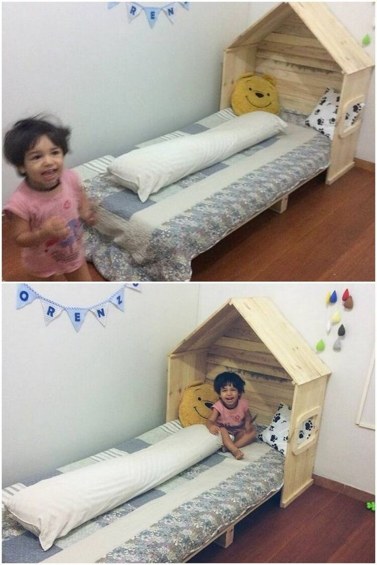 This wood pallet design is all shared with the perception of giving it the impact of kids bed headboard designing framework that is looking so much durable and sturdy. This amazing headboard design is simple and much artistic designed looking that would be a perfect option for your house kid's room area perfectly.