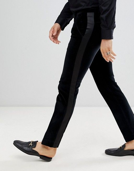 Twisted Tailor Super Skinny Suit Pants With Side Stripe In