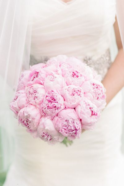 Blush peonies wedding flower ideas