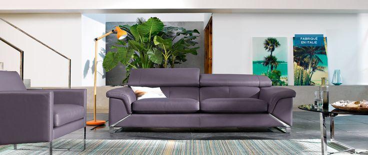 Collection canapés cuir Design - Cuir Center - Cuir Center
