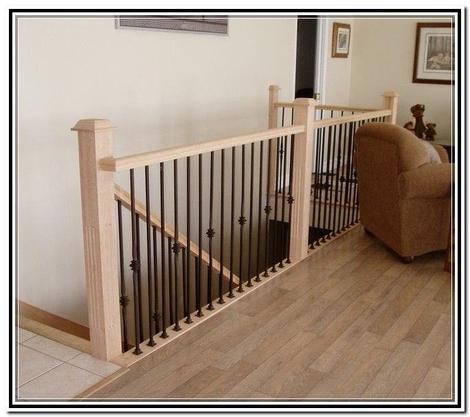 White Wrought Iron Stair Railing