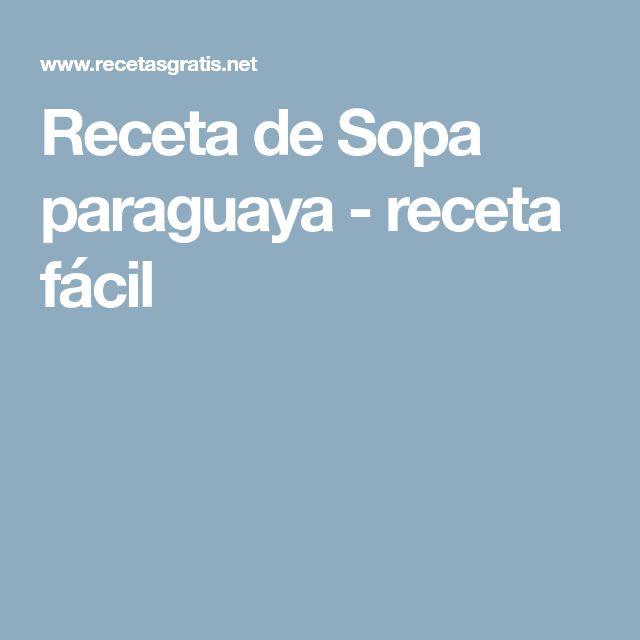 Receta de Sopa paraguaya - receta fácil