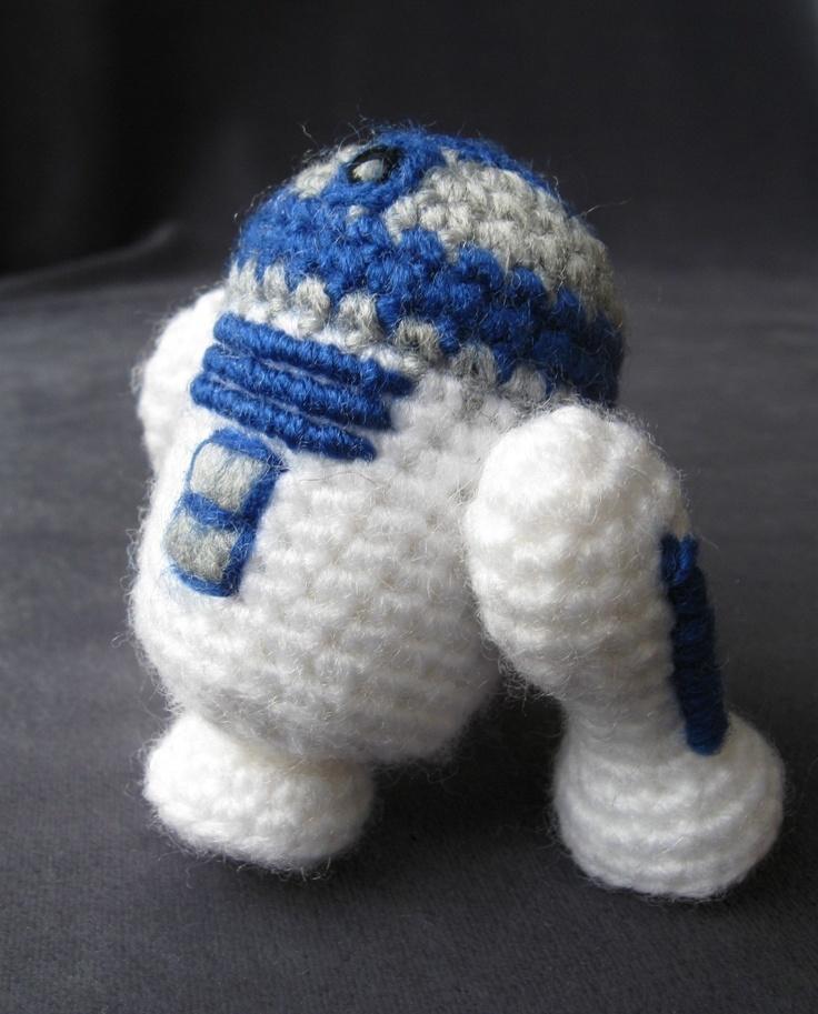 Amigurumi Crochet Wikipedia : Crochet R2-D2 (Star Wars Mini Amigurumi Pattern ...