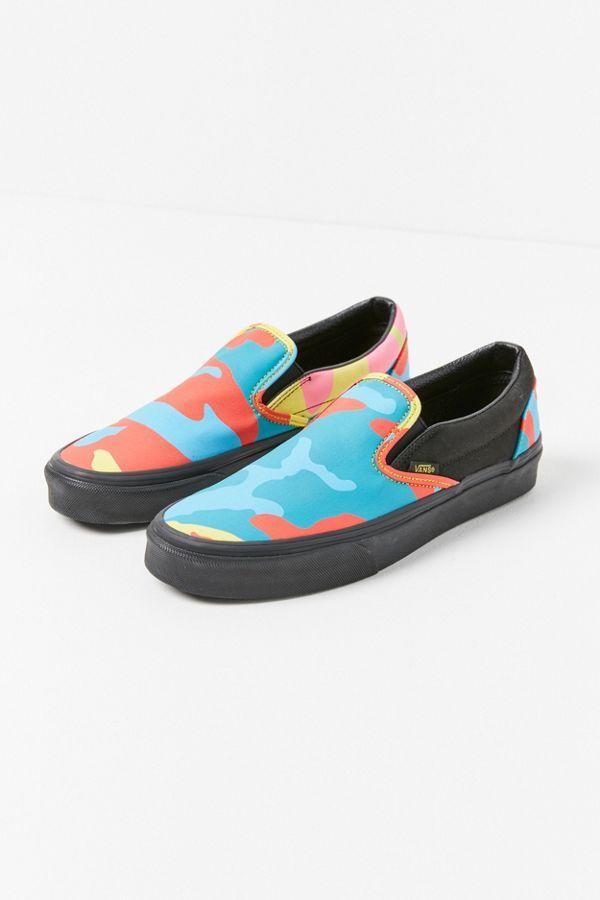 Vans Neon Camo Slip-On Sneaker | Slip