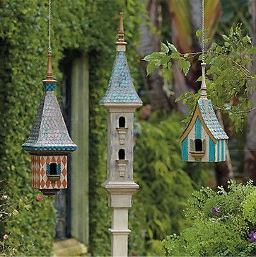Victorian+birdhouses | Victorian Birdhouse Collection - eclectic - birdhouses - by FRONTGATE