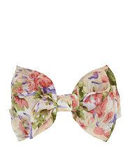 null (Multi Col) Pink Vintage Floral Print Bow Clip | 310675199 | New Look