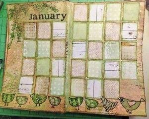 Calendar page for January #kathrynwheel