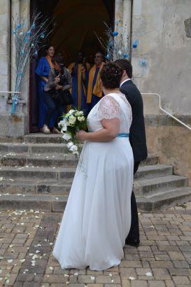 Robe de mariée empire jupe mousseline fluide, Elodie