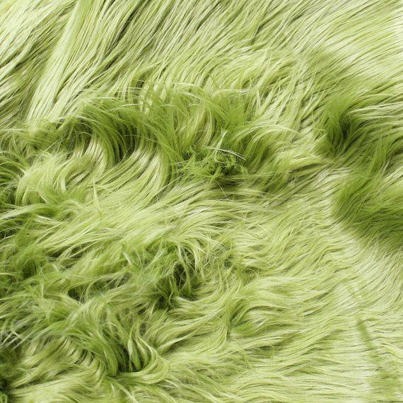 Verde oliva mongolo pelliccia tessuto dal di StylishFabric su Etsy
