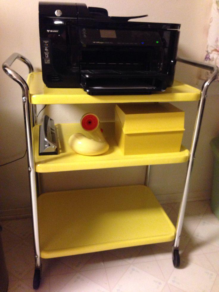 retro yellow kitchen cart home stuff pinterest yellow kitchens