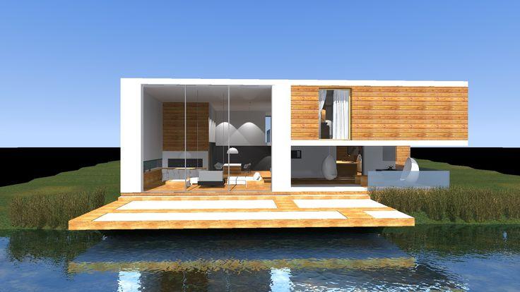 Projekt domu jednorodzinnego nad stawem
