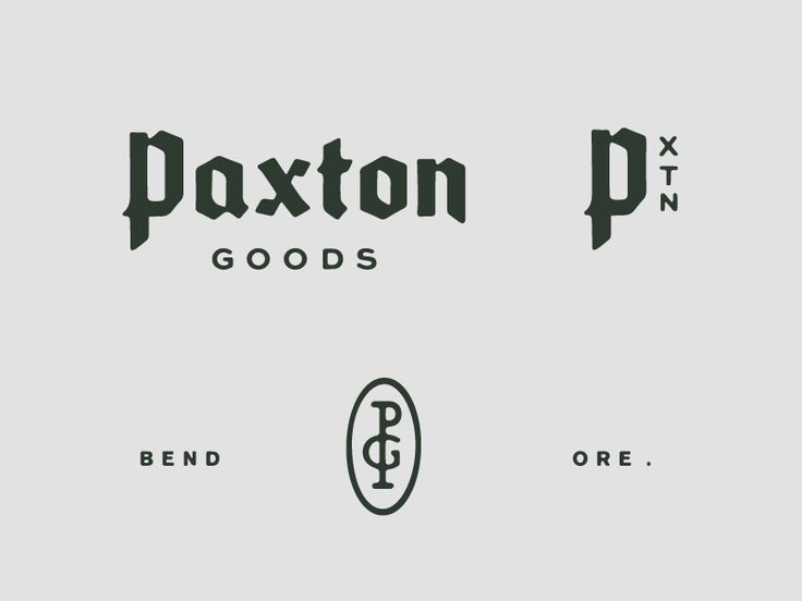 Parts of an identity system for a leather goods company.