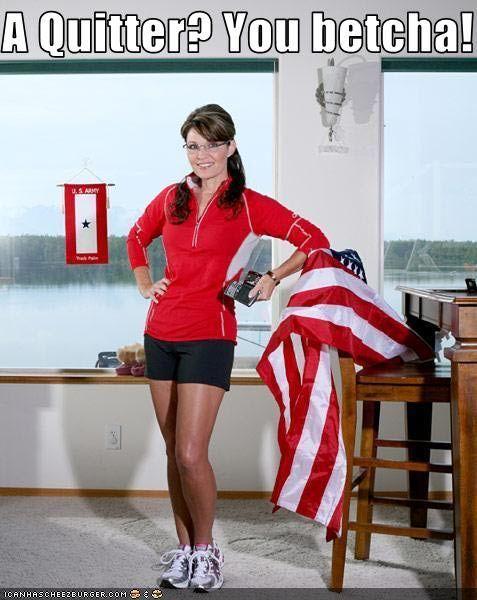 sarah+palin+humor | Palin Is a Quitter - Sarah Palin Picture
