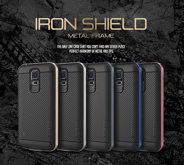 VERUS Iron Shield Metal Frame Case for Galaxy S5