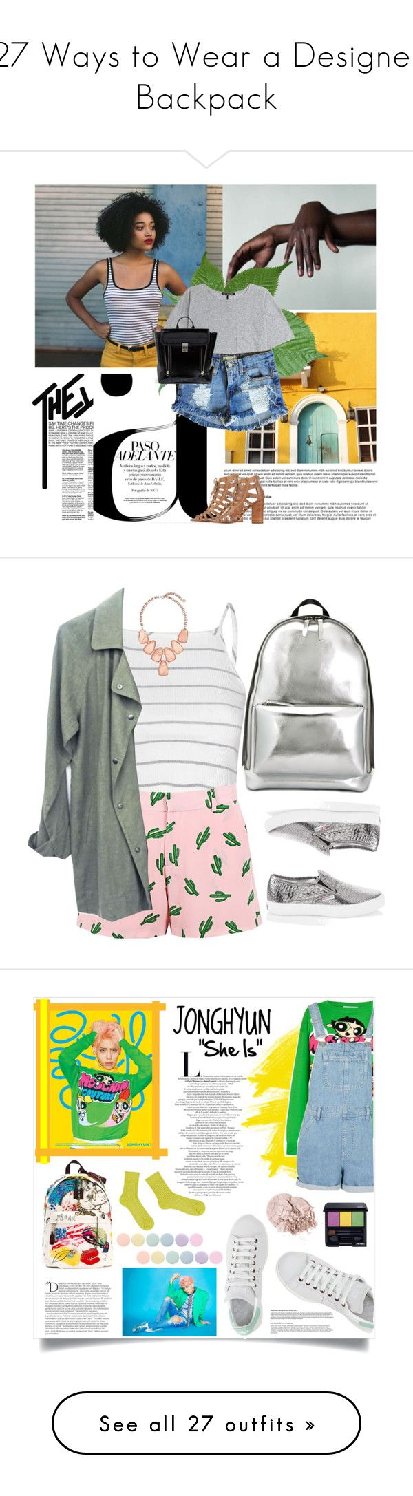 """""""27 Ways to Wear a Designer Backpack"""" by polyvore-editorial ❤ liked on Polyvore featuring waystowear, designerbackpack, Nico, rag & bone, Levi's, Rebecca Minkoff, 3.1 Phillip Lim, Glamorous, American Retro and White House Black Market"""