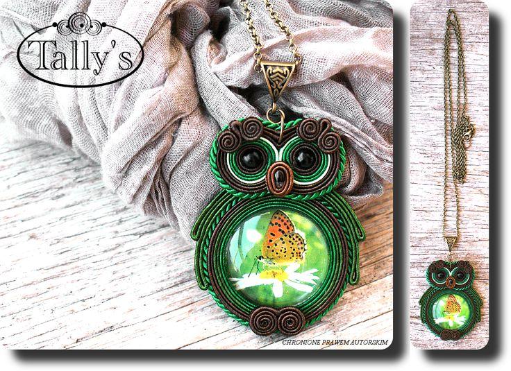 Ожерелье - OWL - коса - ювелирные изделия автор Талли - Серебряный булавка
